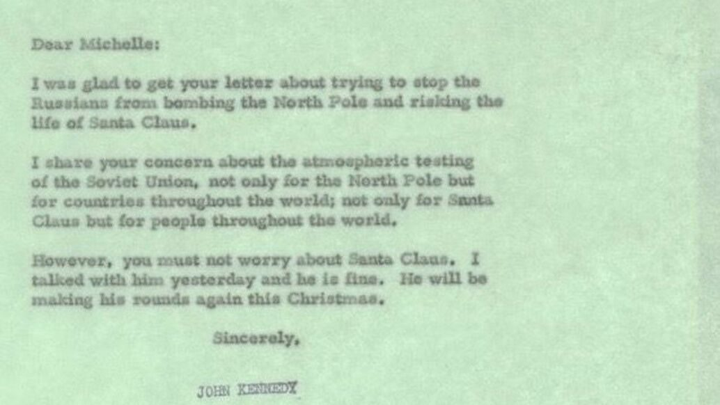 From the archives: JFK's brief, reassuring response to an 8-year-old's plea for Santa
